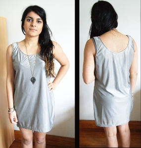 night wear.gold casual singlet dress